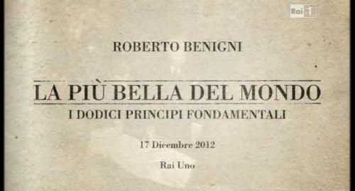 """Benigni e """"la più bella del mondo"""", ascolti da record per lo show dedicato alla Costituzione"""